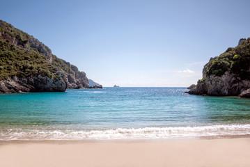 beautiful beach in Corfu