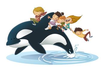 niños con orca