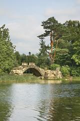 Горбатый мост в Дворцовом парке. Гатчина. Россия