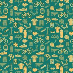 Bike seamless pattern