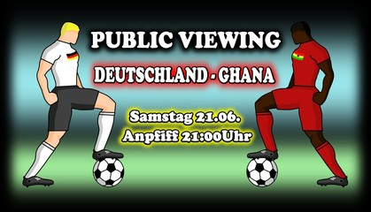 Deutschland Ghana Public Viewing Live