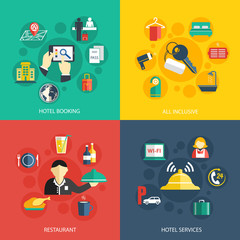 Hotel accommodation services concept