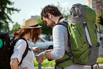 Tourists Sightseeing City