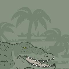 Scene crocodile