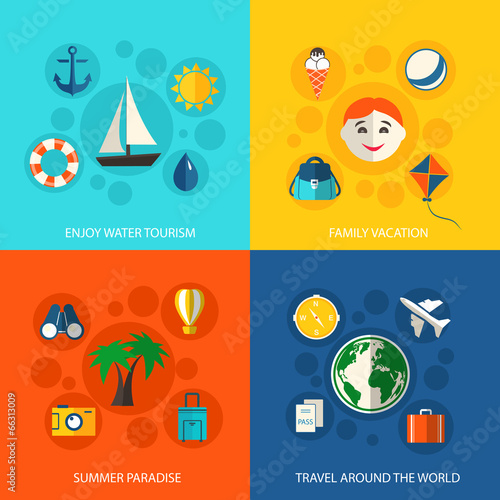 Summer travel vacation concept
