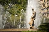 Fountain in Placa Catalunya - Barcelona poster