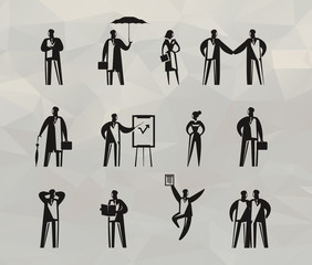 Businessman icons. Vector format