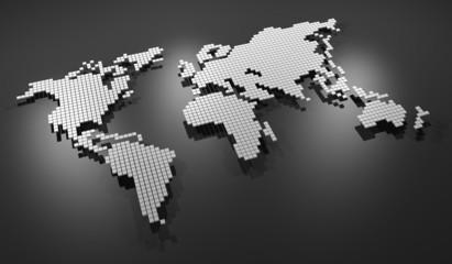 Grey map world
