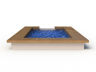 3D Illustration of a Swimming Pool