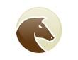 horse head logo silhouette symbol icon