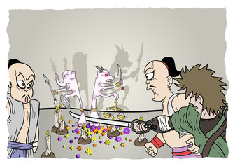 Scene comic