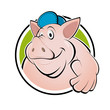 schwein cartoon logo sau ferkel