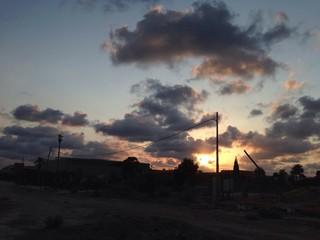 Atardecer con nubes