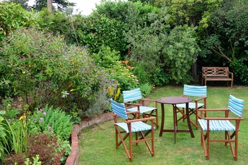 Garden chairs outdoors