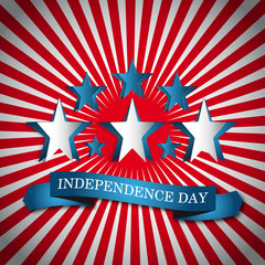 Vector independence day vintage badge, retro background poster