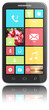 Smart phone with colorful Flat UI. No Branded. Isolated.