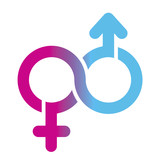 male and female Limitless symbol, vector poster
