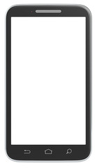Smartphone.Classic Black Smartphone. No Branded. Isolated.