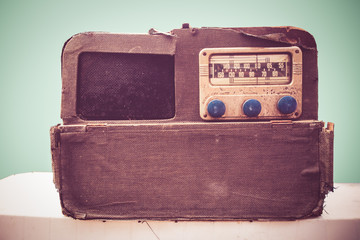 Vintage radio with retro tone