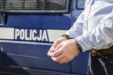 Bussinessman in handcuffs