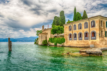 Lake Garda at Punta San Vigilio, Town of Garda, Italy