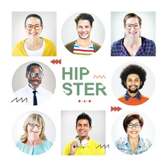Headshots of People Labeled as Hipster