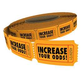 Increase Your Odds Raffle Tickets Roll Improve Chances Winning