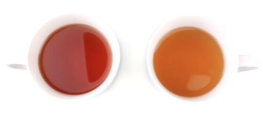 Assortment of tea isolated on white