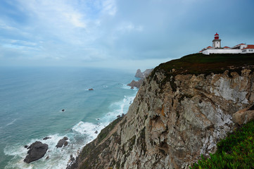 lighthouse at the  Cabo Da Roca, Portugal