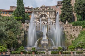 Neptunbrunnen mit Wasserorgel an der Villa d'Este