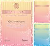 Fototapety Cute vector certificate poster, banner for children's activity
