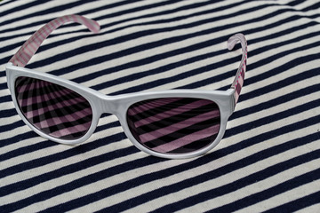 fashion sunglasses, foil, stripes, white sunglasses, sun