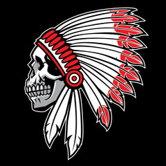 indian skull chief