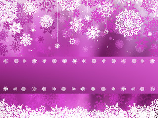 Purple christmas with snowflake. EPS 8