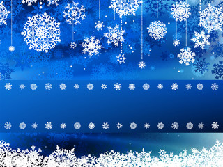 Elegant christmas blue with snowflakes. EPS 8
