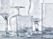 Glassware washing under water jets - 66323631