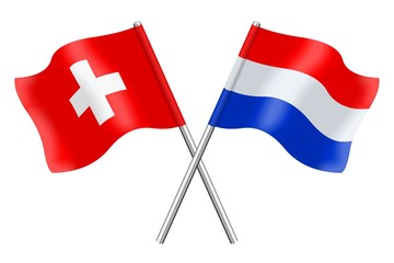 Flags : Switzerland and the Netherlands