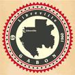 Постер, плакат: Vintage label sticker cards of Gabon