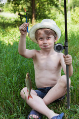 Young fisherman