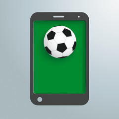 Silver Background Smartphone Football PiAd