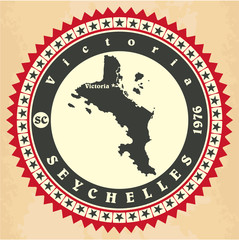 Vintage label-sticker cards of Seychelles.