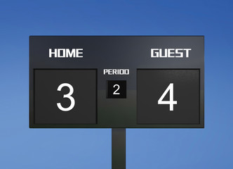 soccer scoreboard score 3 & 4
