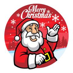santa greeting christmas