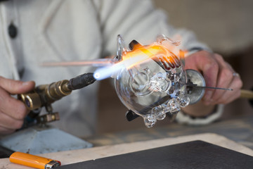 glass working hands
