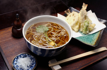 Soba noodles and Tempura