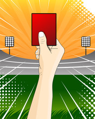 red card soccer referee vector
