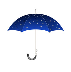 Umbrella with raindrops