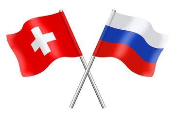 Flags : Switzerland and Russia