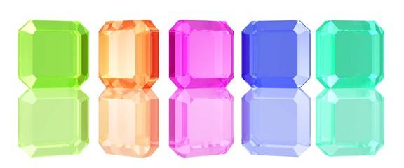 Kristalle in verschiedenen Farben