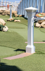Details in Miniature Golf Course